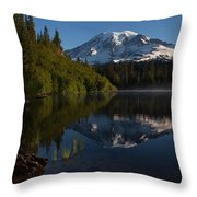 Peaceful Mountain Serenity Throw Pillow