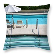 Peaceful Oasis Palm Springs Throw Pillow