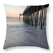 Peaceful Ocean Sunrise Throw Pillow