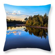 Peaceful Payette River Throw Pillow