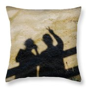 Peaceful People Shadows Throw Pillow