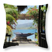 Peaceful Roatan Throw Pillow