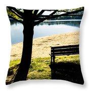 Peaceful Shadows Throw Pillow