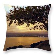 Peaceful Sundown On Hilo Bay - Hawaii Throw Pillow
