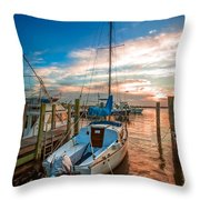 Peaceful Sunset Throw Pillow