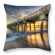 Peaceful Surf Throw Pillow