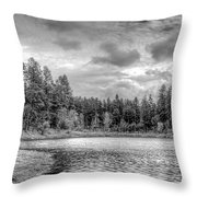 Peaceful Times 2 Black And White Throw Pillow