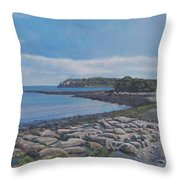 Peaceful View From Peaks Island Me Throw Pillow