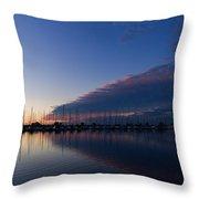 Peaceful Yachts And Sailboats Throw Pillow
