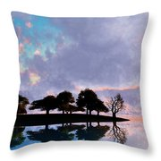 Peacefully Chaotic... Throw Pillow