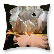 Peach Elegance Throw Pillow