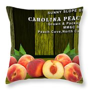 Peach Farm Throw Pillow