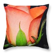 Peach Relish Throw Pillow
