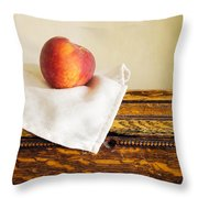 Peach Still Life Throw Pillow