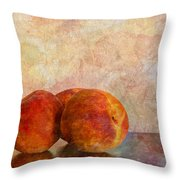 Peach Trio  Throw Pillow