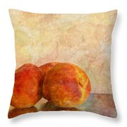 Peach Trio II Throw Pillow