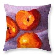 Peach Trio Throw Pillow