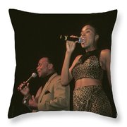 Peaches And Herb Throw Pillow