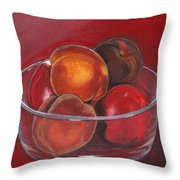 Peaches And Nectarines Throw Pillow