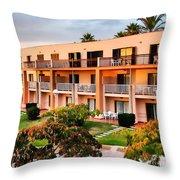 Peachy Apartments Throw Pillow