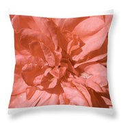 Peachy Pink Jasper Rose Throw Pillow