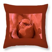Peachy Rose Throw Pillow