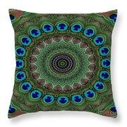 Peacock Abstract Throw Pillow