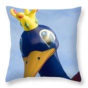 Peacock Balloon Throw Pillow