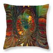 Peacock City Of Abstract Fx  Throw Pillow