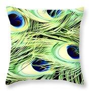 Peacock Colour Throw Pillow