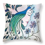 Peacock Dawn Throw Pillow