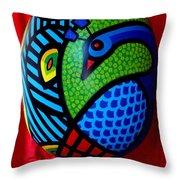 Peacock Egg II  Throw Pillow