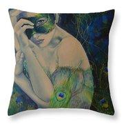 Peacock Enigma Throw Pillow