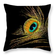 Peacock Feathers 7 Throw Pillow