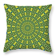 Peacock Feathers Kaleidoscope 2 Throw Pillow