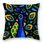 Peacock IIi Throw Pillow