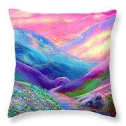 Peacock Magic Throw Pillow