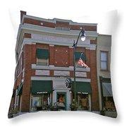 Peacock On Third Street Throw Pillow