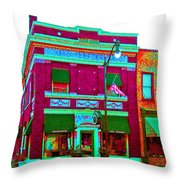 Peacock On Third Through Rose Colored Glasses Throw Pillow