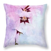 Peacock Orchids Throw Pillow