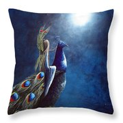 Peacock Princess II By Shawna Erback Throw Pillow