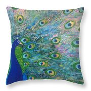 Peacock Proper Peacock Throw Pillow