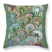 Peacock Shell Pattern Abstract Throw Pillow