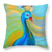 Peacock Vii Throw Pillow