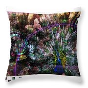 Peacock With Leftovers  Throw Pillow