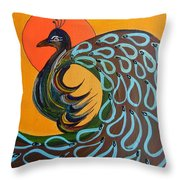 Peacock X Throw Pillow