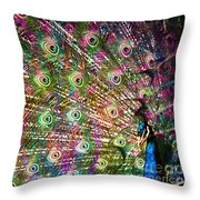 Peacocked Throw Pillow