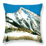 Peak Adventure Throw Pillow
