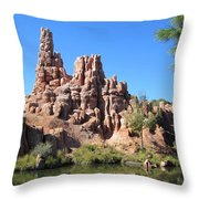Peak And Valley Throw Pillow