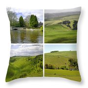 Peak District Collage 01-plain Throw Pillow